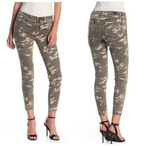 Kut from the Kloth Connie Ankle Raw Hem Camo Jeans